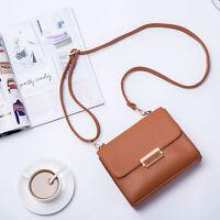 Women PU Leather  Saddle Phone Bag Solid Crossbody Bag Leisure Shoulder Bag Hot