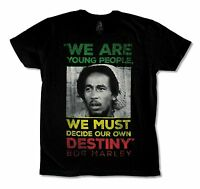 "BOB MARLEY ""DESTINY"" BLACK T-SHIRT NEW OFFICIAL ADULT"