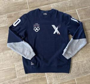 10 Deep Blue  Embroidered Vctry MCMXCV 1995 USA Sweatshirt Size 2XL
