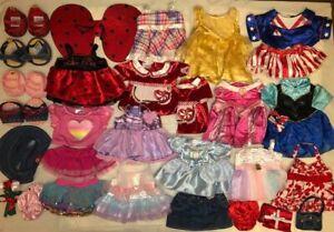 LOT Build a Bear Plush Girl CLOTHES Disney PRINCESS Gown Dress SHOES Toy BABW