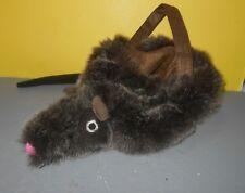 PBK Pottery Barn Kids Mouse Easter / Halloween Plush Basket Bag Treat Bucket