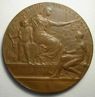 1889 Paris Daniel Dupuis Art Nouveau French bronze medal