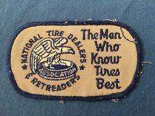 Vintage National Tire Dealers & Retreaders Uniform Patch Mechanics Tires Racing