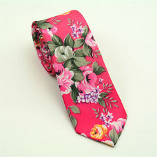 Hombre Moderno Ajustado Boda Novio Fiesta Corbata Estampado Floral Corbata