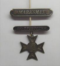 VINTAGE WW I Marksman Sharpshooter Badge Lot STERLING