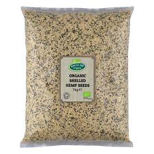 Organic Shelled (Hulled) Hemp Seeds 1kg Certified Organic