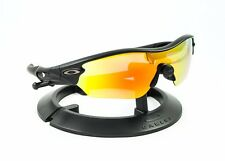 OAKLEY RADAR EDGE MATTE BLACK FRAME / REVANT FIRE RED POLARIZED CUSTOM LENSES
