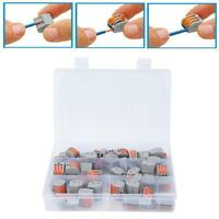 60pcs Spring Lever Terminal Block Electric Cable Wire Conector 2 3 5Way Reusable