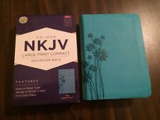 NKJV Large Print Compact Bible - $14.99 Retail - Teal Leathertouch