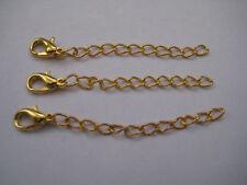 Enchapado En Oro Extensor cadena langosta Con Broche