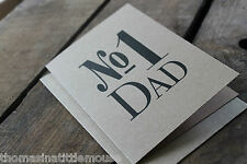 No 1  DAD  Father's Day Card - kraft blank inside East of India greetings card
