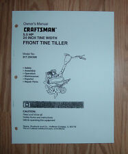 CRAFTSMAN 917.292390 TILLER OWNERS MANUAL WITH ILLUSTRATED PARTS LIST
