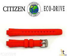 Citizen Eco-Drive Original  EP6011-01E Women's Divers Orange Rubber Watch Band