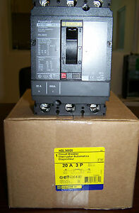 BRAND NEW Square D HDL36020 HDL 3Pole 20Amps 480Volt   FREE SHIPPING