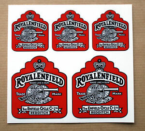 Classic Tank Helmet Frame RED stickers decals to fit ROYAL ENFIELD