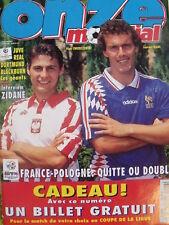 Onze Mondial 79/1995 France Pologne Zidane Juve Réal