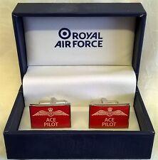 ROYAL AIR FORCE CUFFLINK SET - ACE PILOT - IDEAL PRIZE TROPHY MENS GIFT RAF119