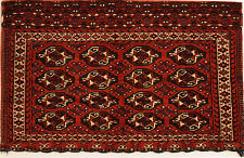 Red 3' x 4' Turkoman Rug Hand Knotted Persian Rug