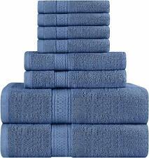 Utopia Towels Premium 600 GSM Cotton 8 Piece Towel Set , Blue