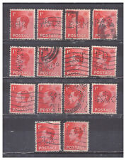 Great Britain Scott# 231 Perfins used collection of 14
