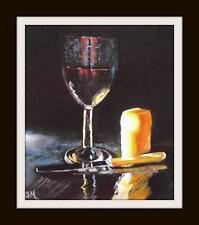 Wine and Cheese Night B : Original Oil Painting by Susan Ballantyne - Mortimer