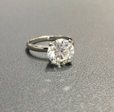 3 Carat Solitaire Diamond Engagement & Anniversary Ring 14K White Gold Over
