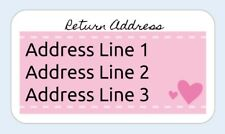 65 Return address labels Small Business Labels Stickers Postage Self Adhesive