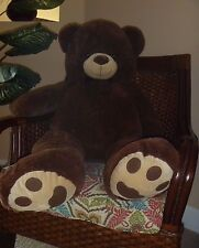 NWT GIANT STUFFED TEDDY BEAR BROWN BEAR BROWN BOW 48 INCHES TALL