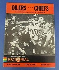 Vintage 9/9/1967 Houston Oilers Vs. Kansas City Chiefs Official Program 123049