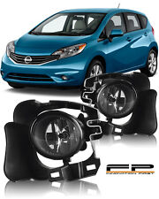 For 2014-2015 Nissan Versa Note Hatchback Clear Lens Fog Light Complete Kit