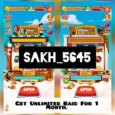 Get Unlimited High Raids From 2 This Account For 1 Month :- Coin Master Big Raid