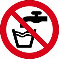 Sticker decal vinyl car bike bumber do not drink prohibited water