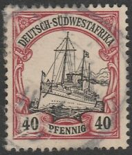 German South West Africa (Namibia) 1906 40 Pfennig, Kaiser Wilhelms Yacht (Used)