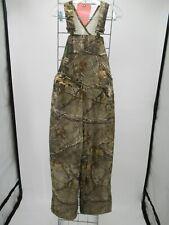 M1800 VTG Boy's Carhartt Camouflaged Quilt-Lined Bib Duck Overalls Size 12