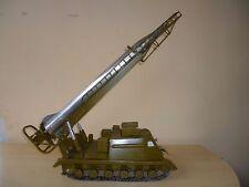 Vintage Tin Toy USSR Rocket Launcher HUGE Tractor Art Deco Scud Storm Desktop