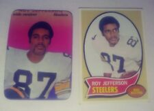 Set Of Roy Jefferson Football Cards ( Topps 1970 & 1970 Super Glossy )