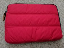 Red laptop / notebook / tablet carry sleeve case / skin - dual compartment