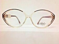 Luxottica gafas de vista vintage plástico celuloide transparente oval marrón