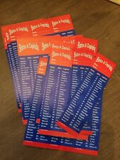 """Lot 50 Bookmarks U. S. States & Capitals Two-Sided 5 1/2"""" School Gifts Prizes"""