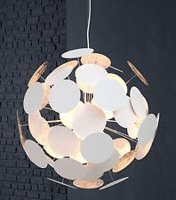 Lampe suspendue SUSPENSION Boule Spots 70cm Blanc / argent rétro salon design