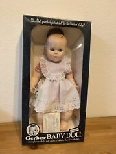"""Vintage Gerber, 17"""" Baby Doll, 1979 White Gingham, 50th Anniversary, Moving Eyes"""