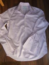 Charles Tyrwhitt long sleeve collared shirt pink blue check 3/4 chest 44