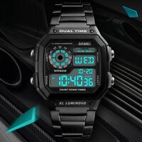 Fashion Men Waterproof Quartz Count-down Timer Sport Military Digital WristWatch