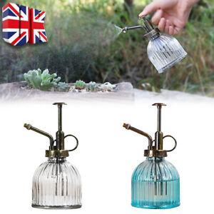 Glass Plant Mister Indoor Watering Can House Garden Water Spray Sprayer Bottle C