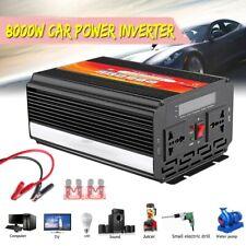 8000W Car Power Inverter 12/24V to 110/220V Sine Wave Converter With Blade Fuses