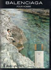Publicité papier - advertising paper -  Balenciaga pour homme