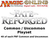 MTGO Magic Online FRF Fate Reforged Playset 520 Cards 4x Common/Uncommon