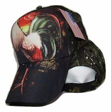 Chicken Rooster #1 Camo Camouflage Premium Printed Baseball Cap Hat (RUF)