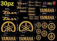 MAXI KIT 30 PEZZI SERIE DI ADESIVI YAMAHA TMAX  T- MAX 500 - 530 COLORE ORO