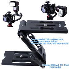 Z- Faltbar Vertikale Kugelkopf Kameraplatte Schnellwechselplatte Pan Tilt Head